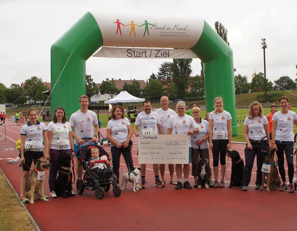 Alle Läufer vom Spendenlauf 2018
