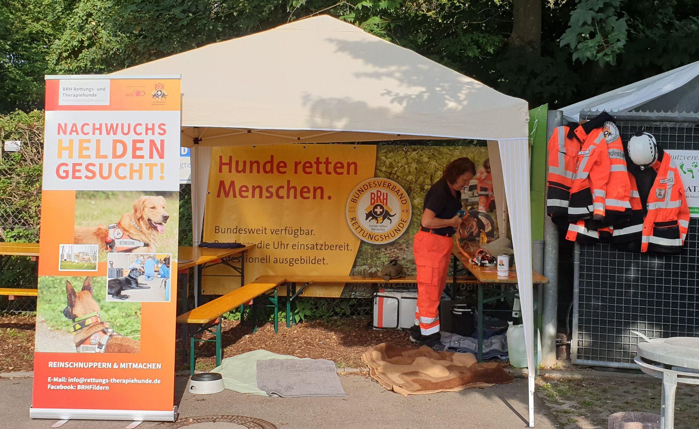 Unser Stand auf dem Tierheimfest Esslingen am 01.09.2019