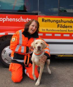 Rettungshundeteam Edeltraud und Harley